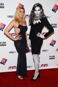 Candis Cayne w/ Detox on Drag Race Red Carpet