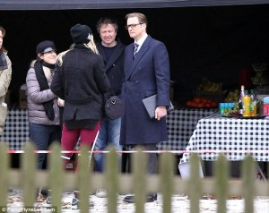Pap'd on set of Kingsman: Secret Service
